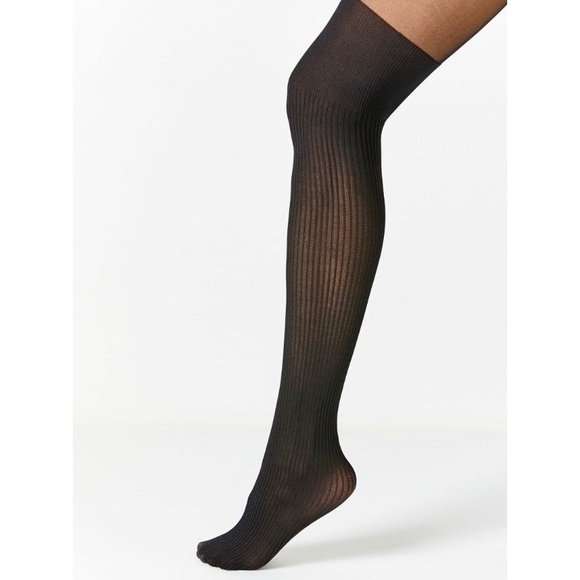 Out From Under Ribbed Faux Thigh High Tights